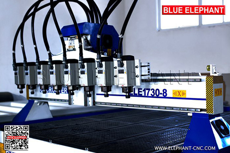 1830 multi heads cnc router with 8 spindles