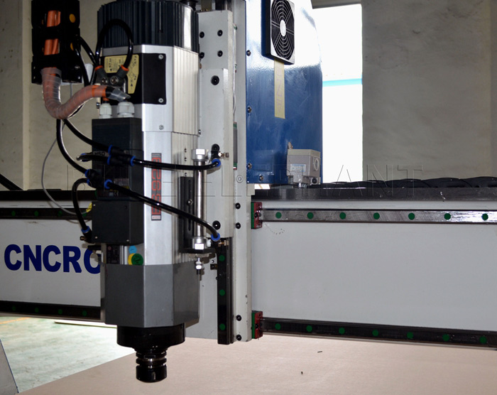 Kw italy hsd air cooling spindle blue elephant cnc machine