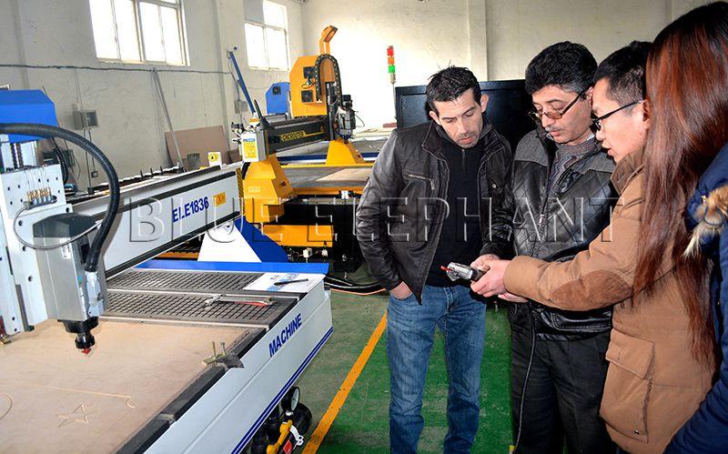 customer visiting factory