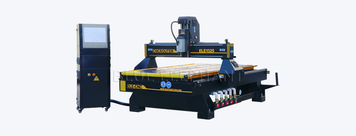 ele1325 cnc router with roller in front
