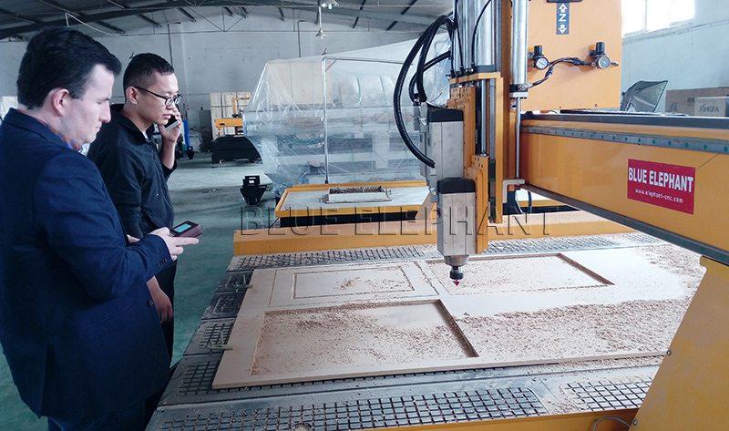 American client visits Blue Elephant CNC machinery