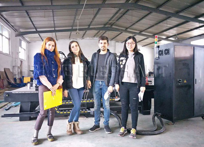 three Italian customers visited the factory, and had a wonderful trip in shandong