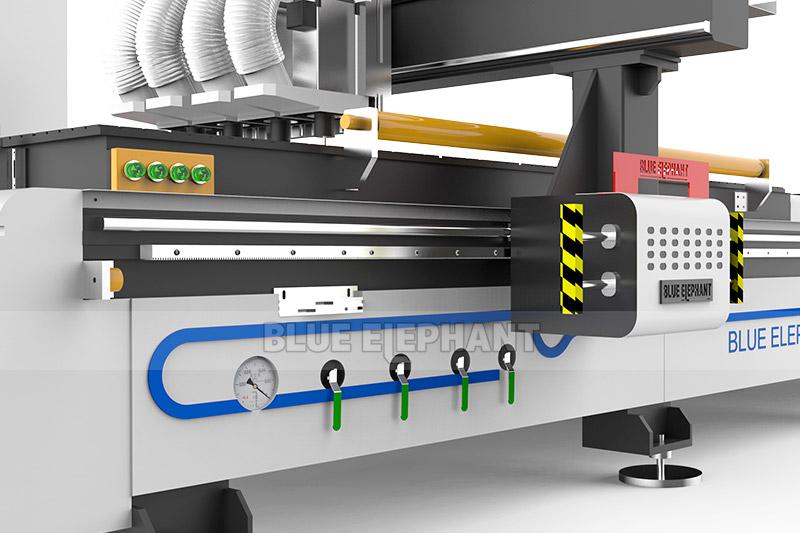 1325 Bi-Zone Pneumatic Multi Spindles CNC Engraving Router1