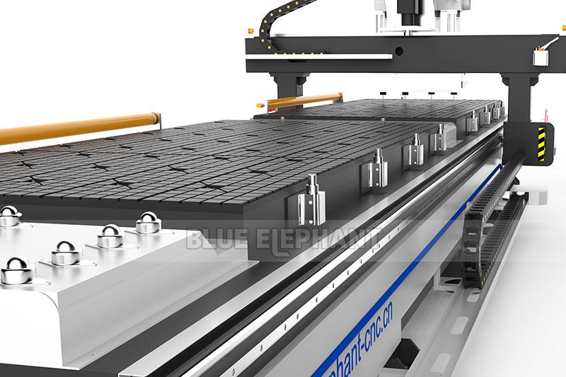 1325 Bi-Zone pneumatische multi-spindels CNC graveer-router2