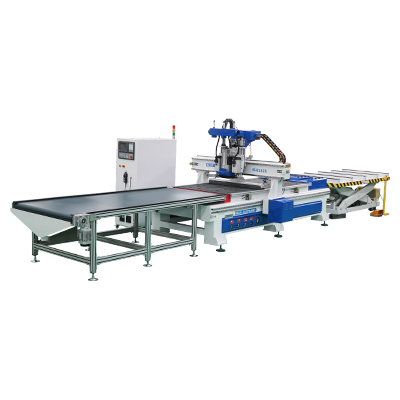 ELE1325 CNC Router Wood Working Automatic Loading and Unloading System Machine