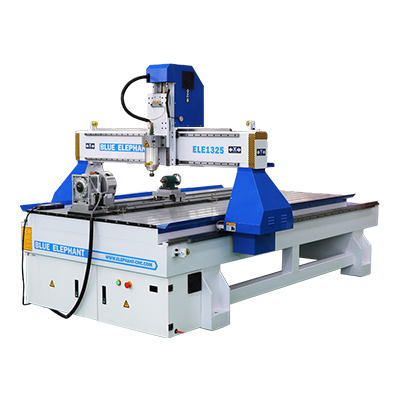 ELECNC-1325 4 Axis CNC Router with Rotary Device03
