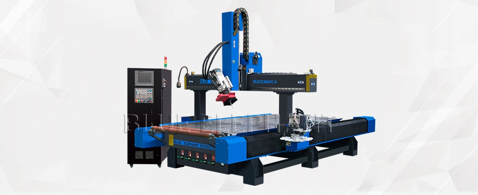 ELECNC-1530 Carousel Tool Changer CNC Router 4 Axis