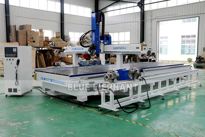 ELECNC-2070 Carousel ATC CNC Router Machine with Rotary Device 02