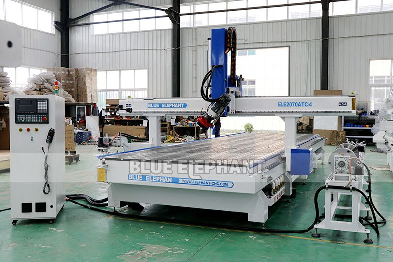 ELECNC-2070 Carousel ATC CNC Router Machine with Rotary Device 03