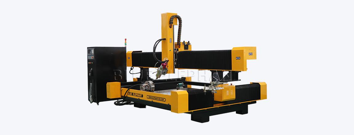 2113 ATC 3D CNC Steinskulptur Maschine mit Drehvorrichtung (2)