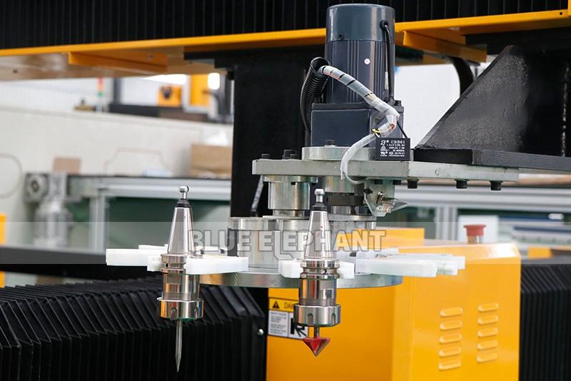 2113 ATC 3D CNC Máquina de Escultura de Piedra con Dispositivo Giratorio (5)