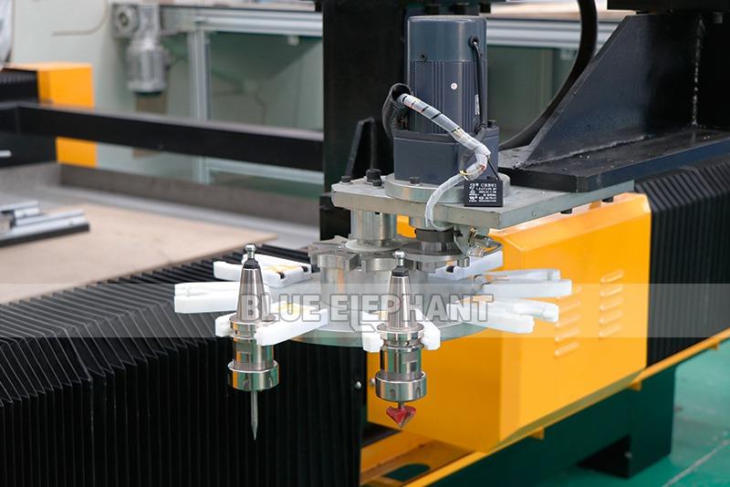 2113 ATC 3D CNC Máquina de Escultura de Piedra con Dispositivo Giratorio (6)