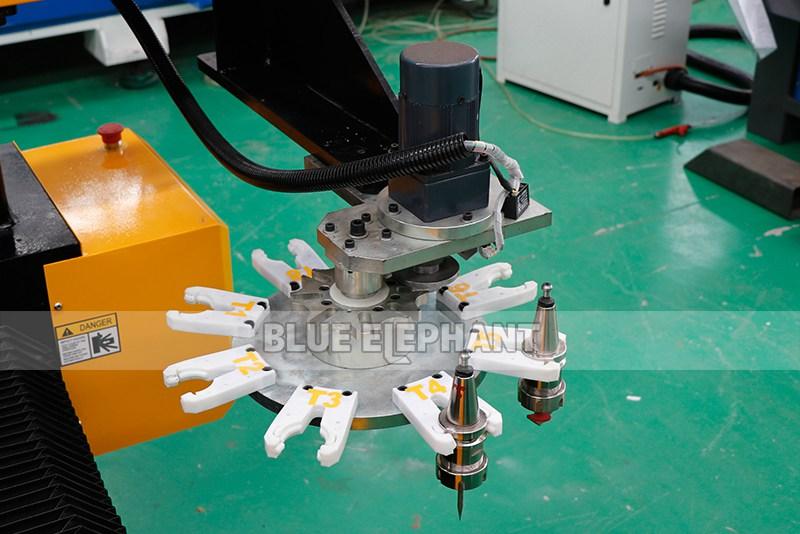 2113 ATC 3D CNC Máquina de Escultura de Piedra con Dispositivo Giratorio (7)