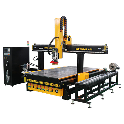 ELECNC-1530 Carousel ATC CNC Router with Rotary Device (1)