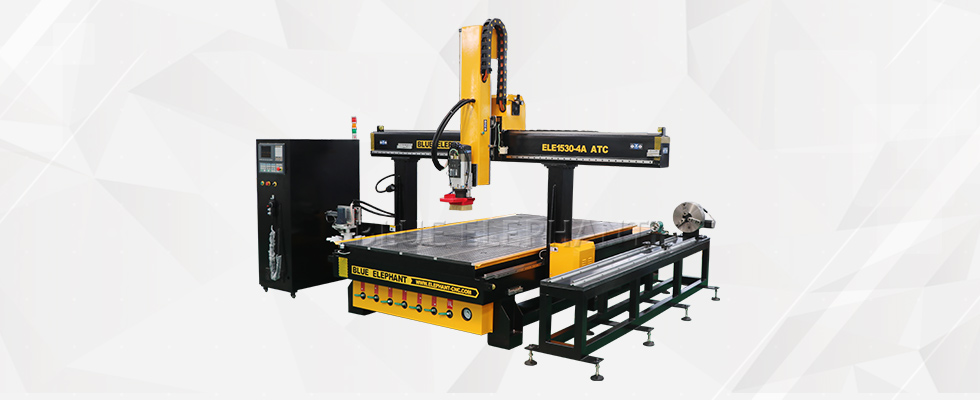 ELECNC-1530 Carousel ATC CNC Router with Rotary Device