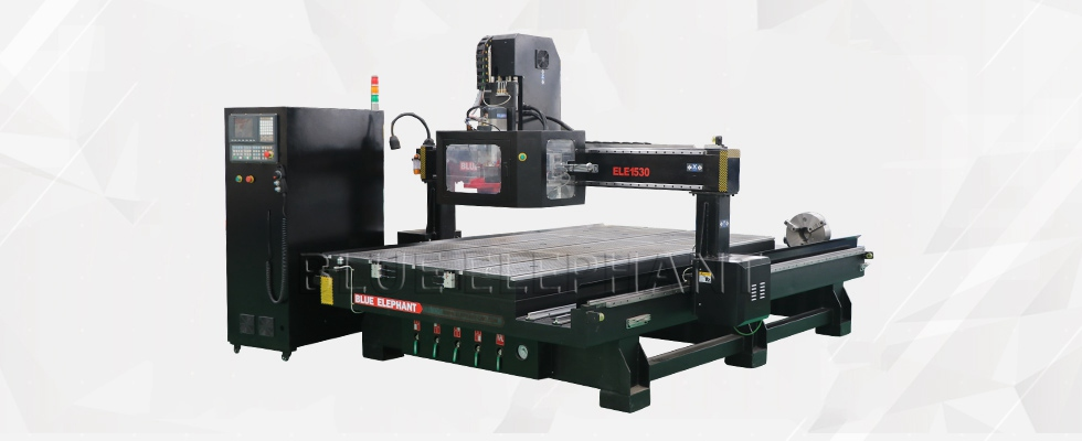 ELECNC-1530 ATC 4 Axis CNC-machine voor 3D Wood