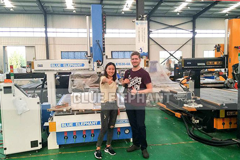 Cnc woodworking machinery was tested by Swiss customer (2)