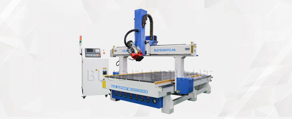 ELECNC-1530 4Axis Деревообрабатывающая машина ATC для гравировки Деревянная скульптура (4)