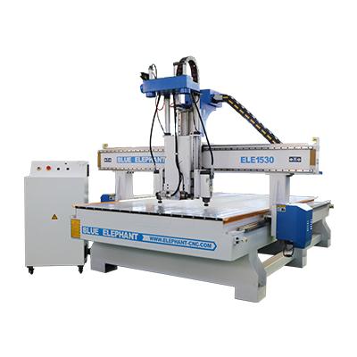 Maquinaria do router do CNC da cabeça dos processos de ELECNC-1530 três multi para a mobília de madeira