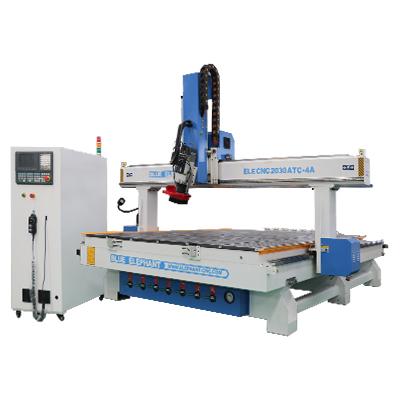 ELECNC-2030 4 Axis Linear ATC CNC máquina de corte de madeira (11)