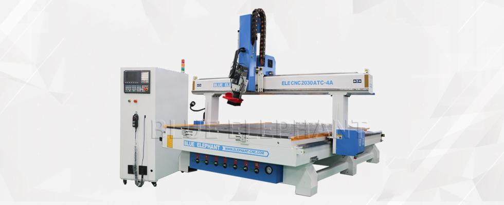 ELECNC-2030 4 Axis Linear ATC CNC Дереворежущий станок (12)
