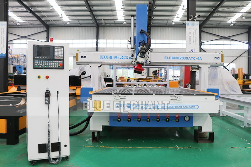 ELECNC-2030 4 Axis Linear ATC CNC Дереворежущий станок (13)
