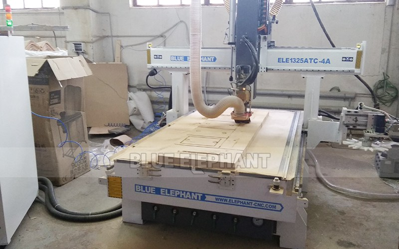 After-Sales Service in Ukraine, 4*8 ft ATC CNC Machine - Blue