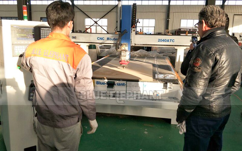 Netherlands Customer visiting!!48 ATC Wood Working Machinery (2)