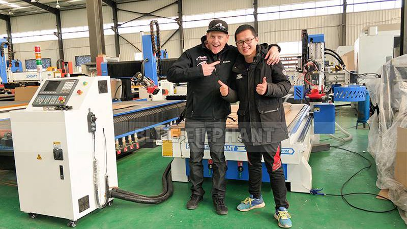 New Arrival Customer from US! 1325 ATC CNC Wood Carving Machine (2)