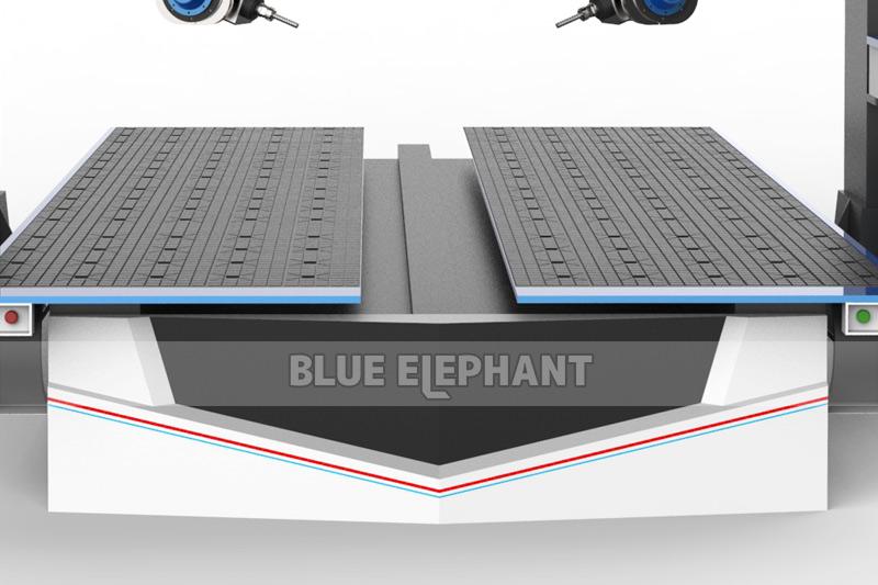 Double table de machine à routeur 5-Axis-CNC