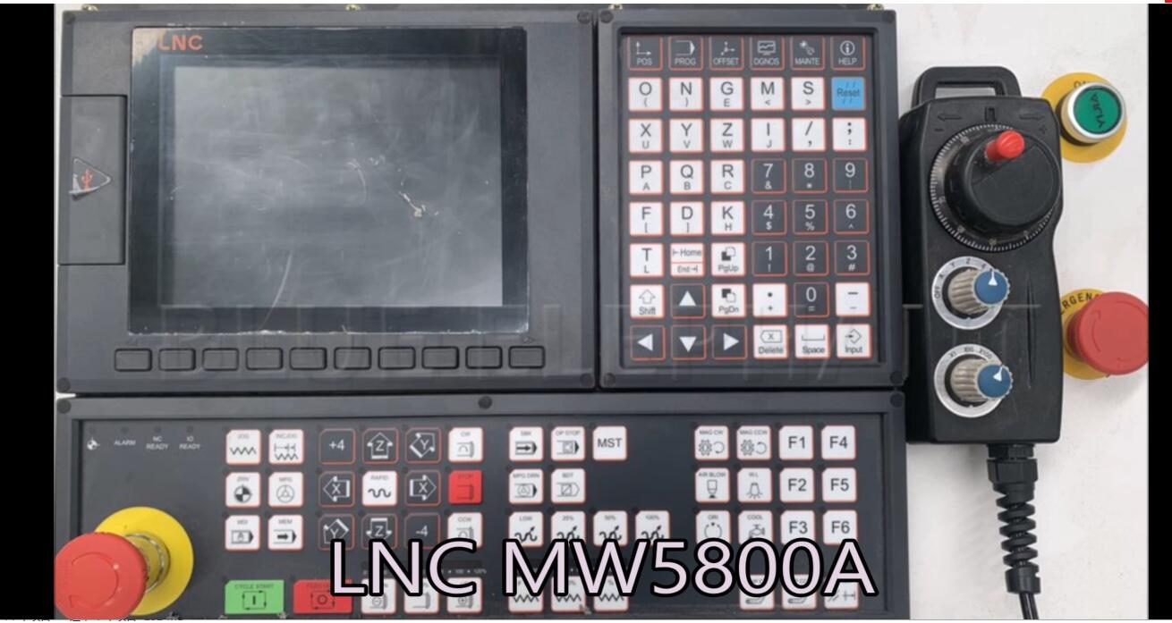 Exemple d'usinage de dispositif rotatif dans LNC MW5800A