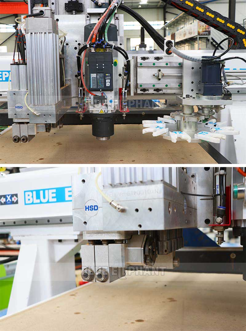 Auto Feeding Furniture Production Line with Carousel Tool Storage3