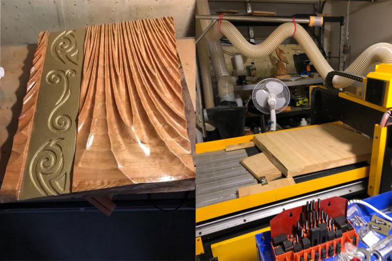 Muestra - 1325 CNC talla de madera máquina con dispositivo rotatorio