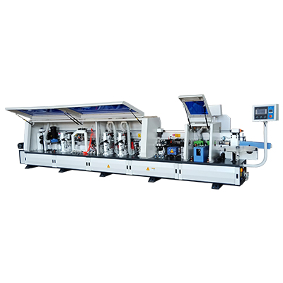 Fully automatic edge banding machine with pre-milling and contour tracking