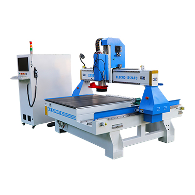 Mini 1212 4x4 4-assige lineaire ATC CNC-router met roterend apparaat