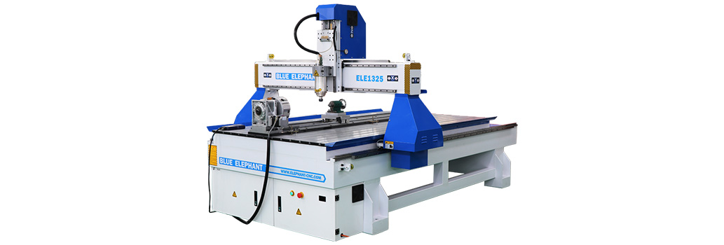 Roterende as CNC-router