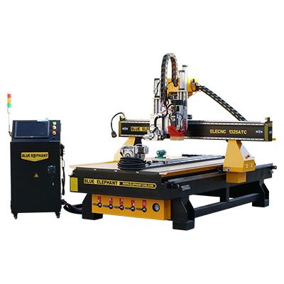 Tour à bois CNC avec changeur d'outils automatique