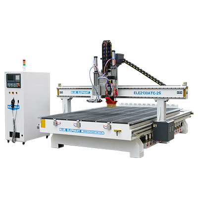 Router CNC lineal ATC con husillos dobles