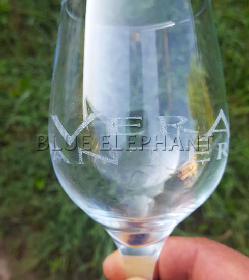 Lasergravure van glas