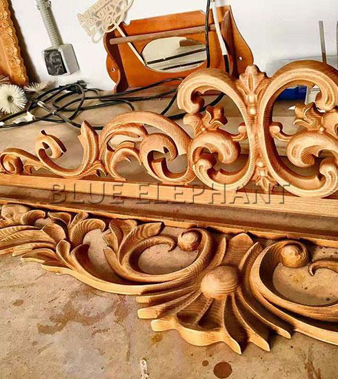 muestra de talla de madera