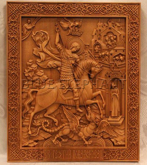 obra de arte de grabado en madera