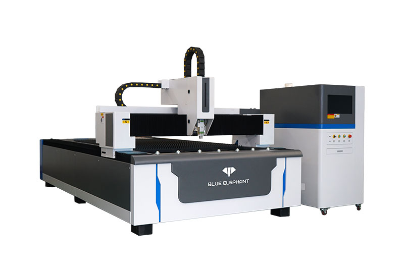 Machine de découpe laser à fibre à plat pour le métal