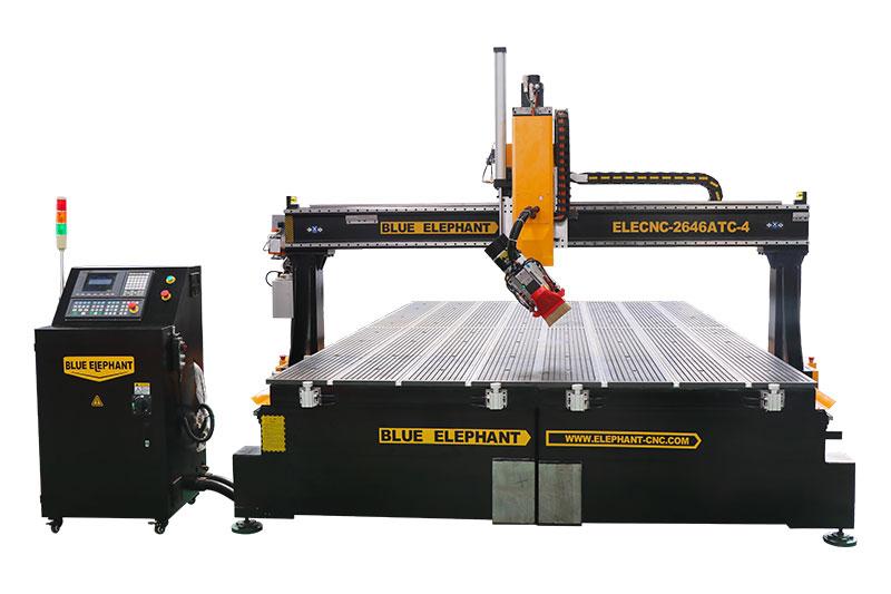 2646 4-Achsen-CNC-Fräser mit automatischem Werkzeugwechsler und abnehmbarem Bett