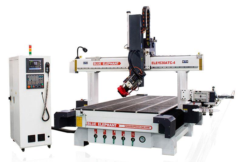 1530 4-Achsen-ATC-CNC-Fräsmaschine 5x10 Tisch für den Schrankbau