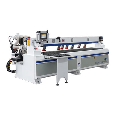 Drie Head Side CNC-boormachine met zaag